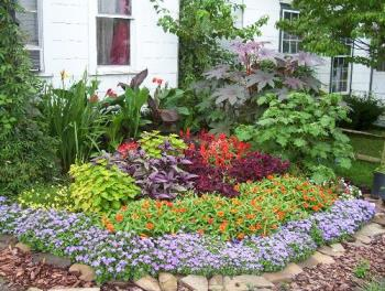 I need flower bed advice mylot for Small flower garden in front of house