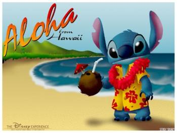 Stitch - i like stitch and lilo..and he is just crazy !!! If i had a pet like stitch i will keep away many things from him before he eat it...:)