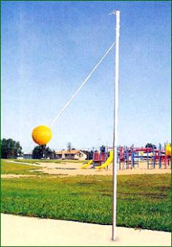 tether ball - playing tether ball