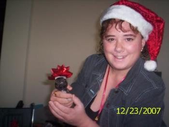 christmas photo - me holding a puppy