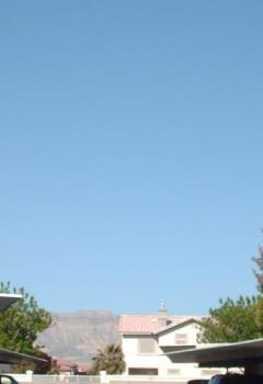 blue sky and mountains in Nevada - Our weather today, blue skies