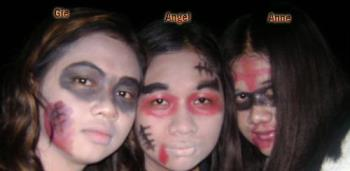 Me and my sisters - Halloween 2007