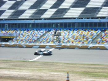 Racing Experience - Very blurred picture of my friends racing experience at Daytona.