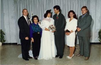 My 1st wedding to my hubby - wedding