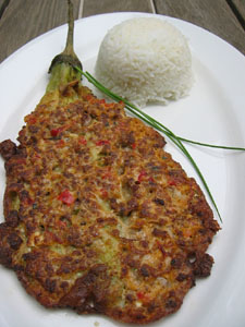 Tortang Talong (Eggplan Omelet) - This was my dinner last night. I love it!