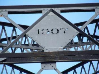 Date on the bridge - Date on the iron work on the bridge.