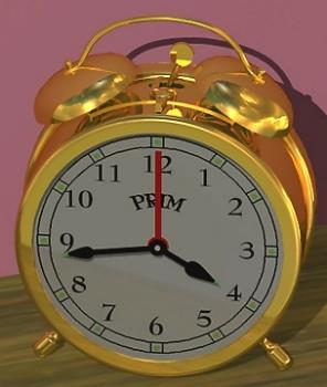 Alarm clock - Can you guarantee that you'll wake up on time for school/college/work without setting your alarm? I can't!