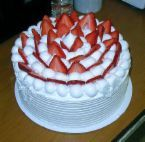Bithday Cake - I love strawberries on a cake.