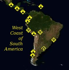 Volcanoes of South America - Volcanoes of South America that are currently going off and or having problems of some sort.