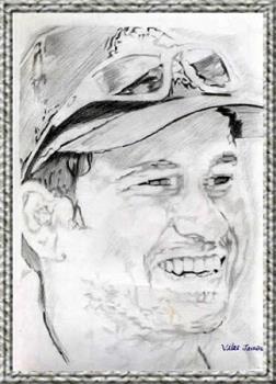 sahin tendulkar painting - this is the sketch made by my friend i loves sachin tendulkar, i also like his batting