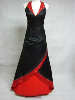 dark princess dress - Red and black dress