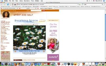 Screenshot of My Photo On Oprah Website - screenshot image of my photo