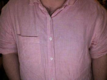 Pink shirt - Fish in a pink shirt.