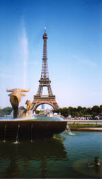 Eiffel Tower - A famous historical monument in Paris,France.