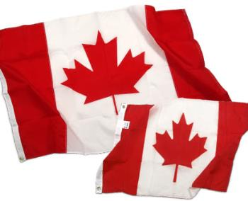 Canadian flags - Flags for the country of Canada.