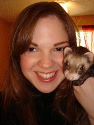 Me and My Cute Little Ferret - My ferret... his name is Junior :)