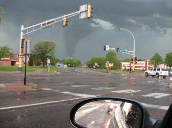rendered tornado - Scary tornado experience