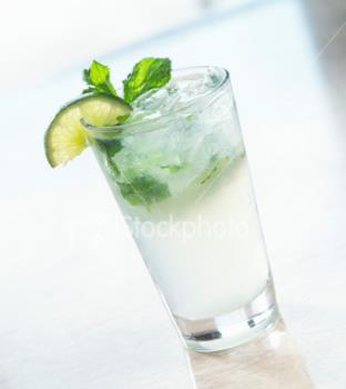 Mojito - The popular Mojito cocktail with lime and white rum...