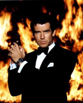 Pierce Brosnan in James Bond movies. - Pierce Brosnan in James Bond movies. He and Sean Connery were the fans favorite James Bond actors.