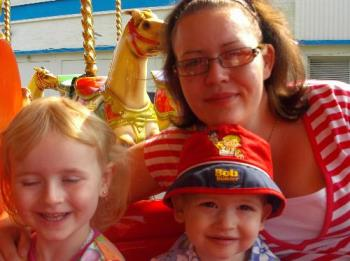 me and my children - a recent picture taken whilst we were on holiday.