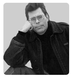 Stephen King - An excellent writter of mostly horror books.
