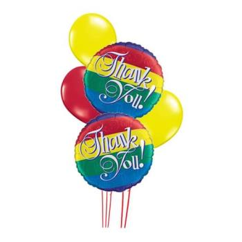 Another thank you for your response! - Here's another cliched thank you..this time in rainbow mylar balloons. I HATE mylar balloons (caused all sorts of damage to my home a couple of years ago), nor am I implying that anyone is gay because of the fact that they're rainbow-colored!
