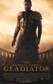 gladiator - Crowe plays General Maximus, chief legionnaire for the aging Emperor Marcus Aurelius (Richard Harris). A fierce fighter and canny tactician, Maximus wants nothing more than to mop up a few Huns and go back to Spain where his family awaits. But politics intervene and he soon finds himself in the middle of a power play between the emperor and his weasel son Commodus (Joaquin Phoenix). Marcus wants Maximus to rule as a regent until the Senate can take control, making Rome a true republic. Commodus, on the other hand, sees the Empire as his own personal chew toy and doesn't need Maximus getting in the way. One foiled execution and desperate flight later, the general finds himself chained to a slave caravan, destined for the gladiator pits of North Africa. While he chafes under the yoke of his new master (the late Oliver Reed), his new enemy whacks the old man, heads back to Rome, and starts making creepy overtures to his she-devil of a sister (Connie Nielsen)