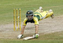 katich diving for life - as he dives for his life in cricket i hope u will dive for ur wife's life....  he saved his life in cricket by this dive...  even u will save ur wife's life