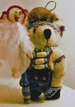 Swift Bear...The Native American Bear I Make Up - image of my Teddy Bear I designed
