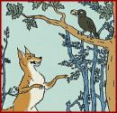 the crow and the fox - Who's side are you on? Do you feel sorry for the crow who's only fault is being conceited? Should we be angry with the fox who have been resourceful and smart?