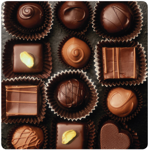 Chocolate - I love Chocolate. Dark and white are my favorite kinds.
