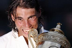 Rafael Nadal - Rafael Nadal after beating Roger Federer in the 2008 Wimbledon Championship