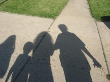 Imagination and Shadows - It is sometimes fun to imagine that our shadows are actually people who mirror our own images. When I was a child I used to love playing with my shadow.