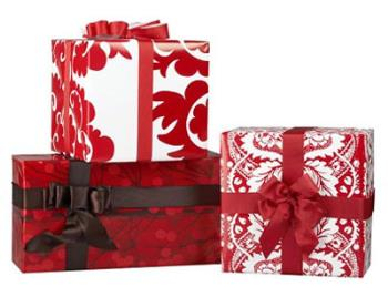 Picture of gifts that are wrapped - Here is a picture of beautifully wrapped presents