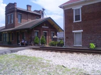 Train depot - This is the train depot that we saw there in Stevenson. The museum is inside. It was really neat!!