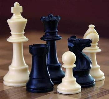 Chess Pieces - Chess set with king, rook, queen, pawn, knight and bishop.