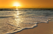 My idea of a vacation - Caribean sunrise with waves on the beach