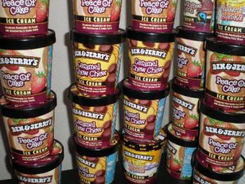 Ben and jerry pints - It adds up when you keep saving them, and saving them... [em]lol[/em].
