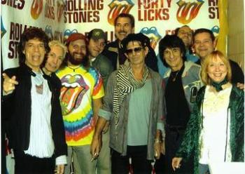 """Me and The Rolling Stones - This was such a thrilling experience for me! I won the front-row tickets and """"Meet and Greet"""" with the fellas by creating the winning banner in a radio contest. (A picture of the banner is posted in my profile if you want to see it.)"""