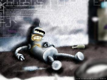 bender from Futurama - bender sober