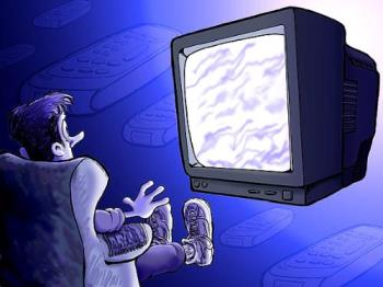 watching tv for long hours - watching television