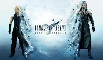 final fantasy: the advent children  - the two main people of the movie