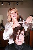 haircut - photo of woman getting haircut