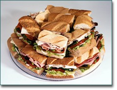 Party platter - party platter of sandwiches