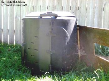 Compost Bin - hard work but worth it.
