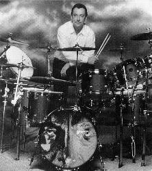 The professor on the Drum kit - Neil Peart of Rush