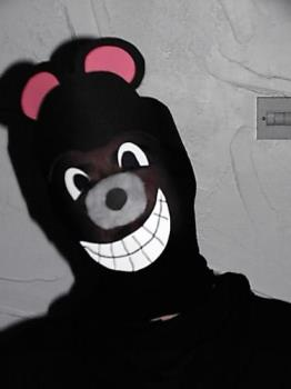 one of my alter-egos - Me in Biffo the Bear mode