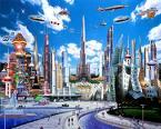 future - future cartoon of a city