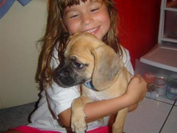 My little puggle - My daughter and Paco!