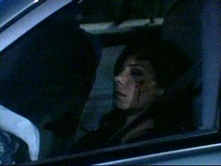 Claudia - screen cap of Claudia in her car after Sonny hit her